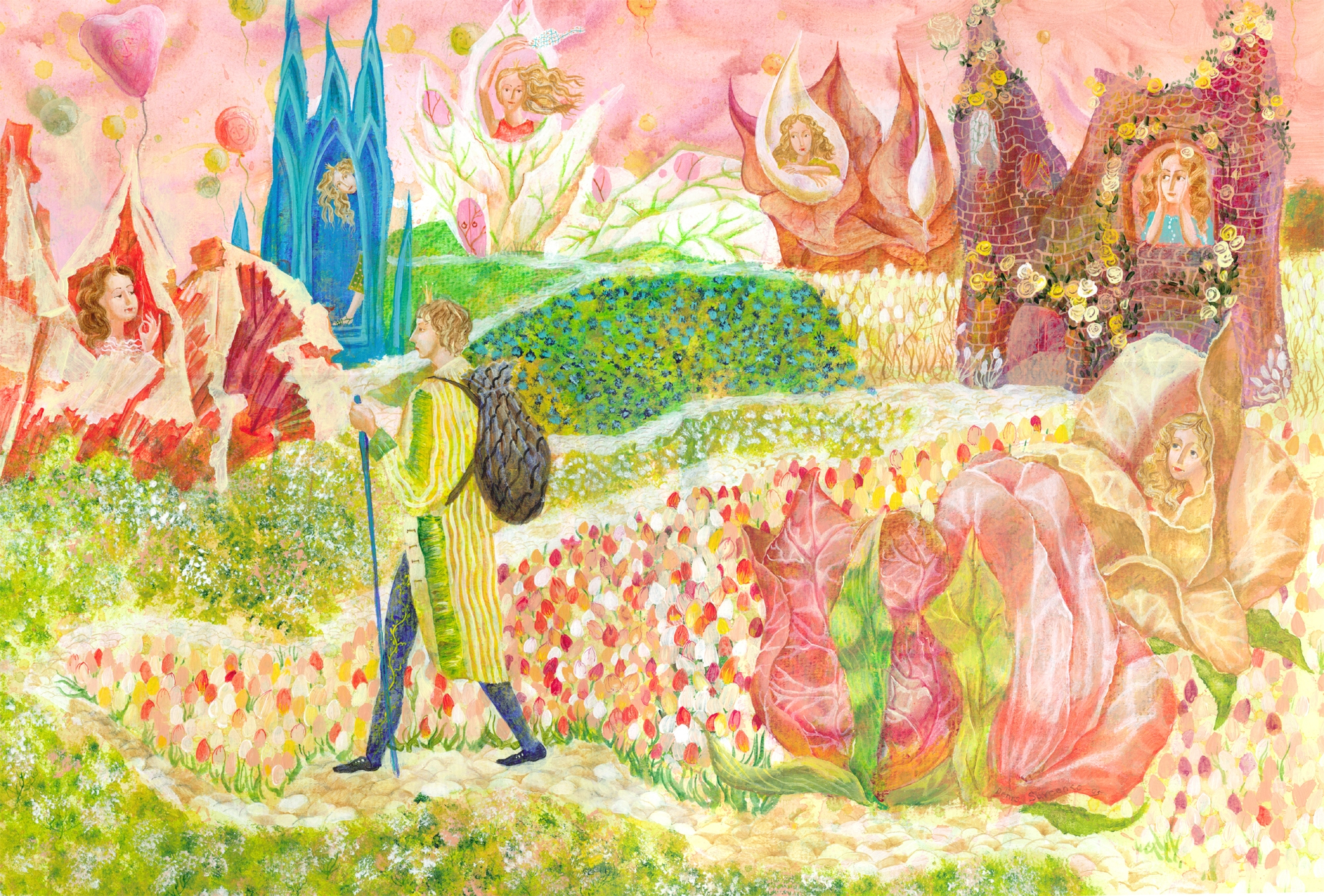 Denys Savchenko. Illustrations. Water colours. The princess and the pea