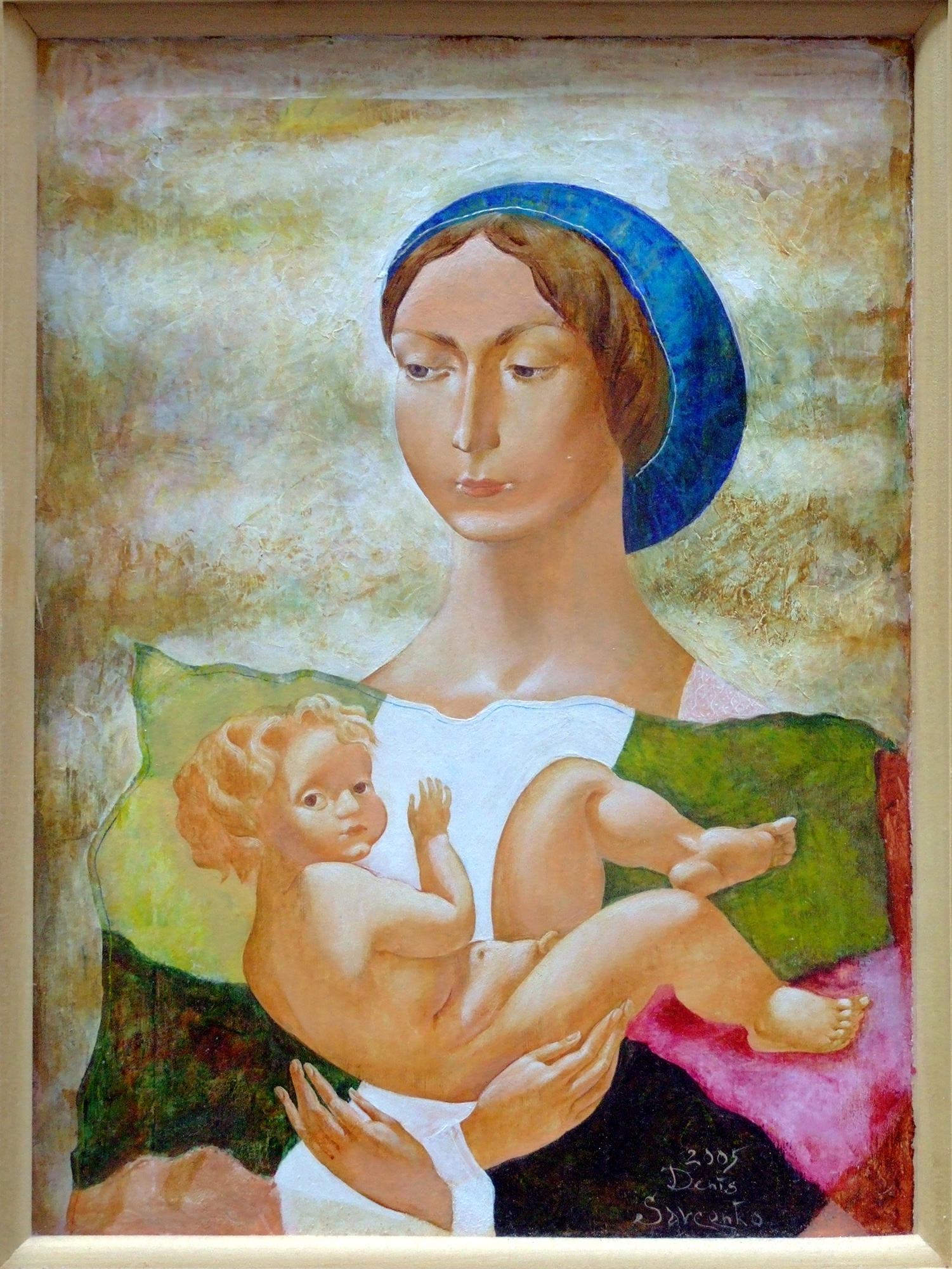 Denys Savchenko. Figurative painting. Acrylic painting. Mother