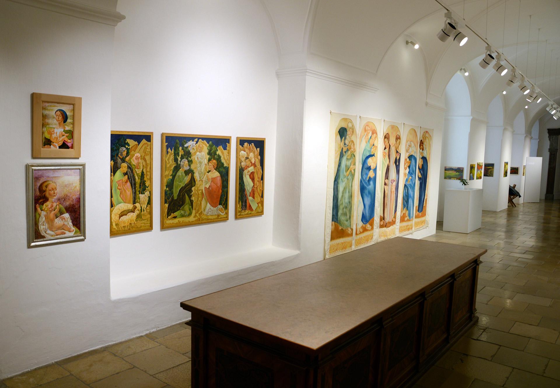 Denys Savchenko. Artist. Exhibition Stift Seitenstetten. Austria