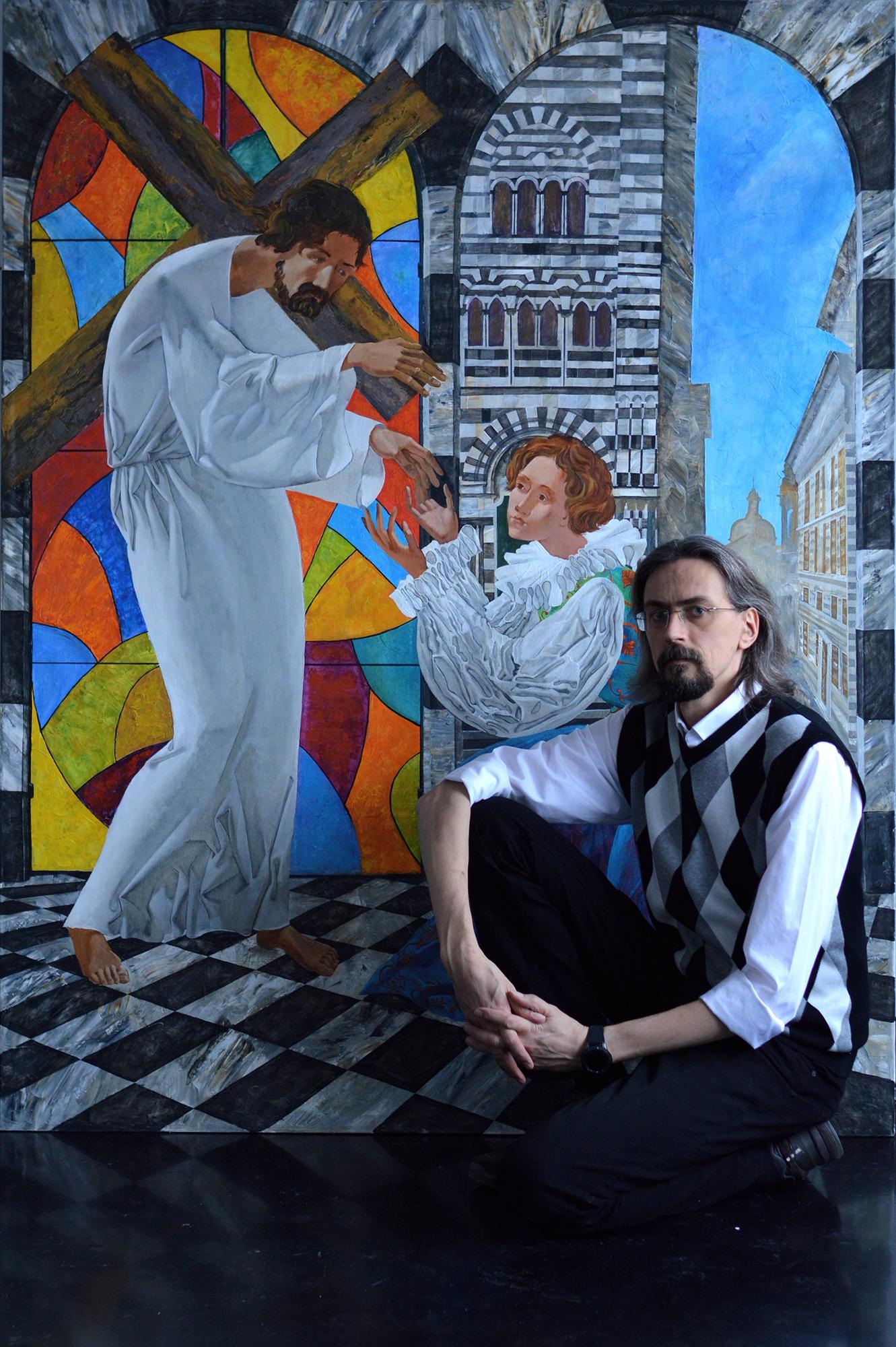 Denys Savchenko. Religious painting. Saint Catherine of Genoa