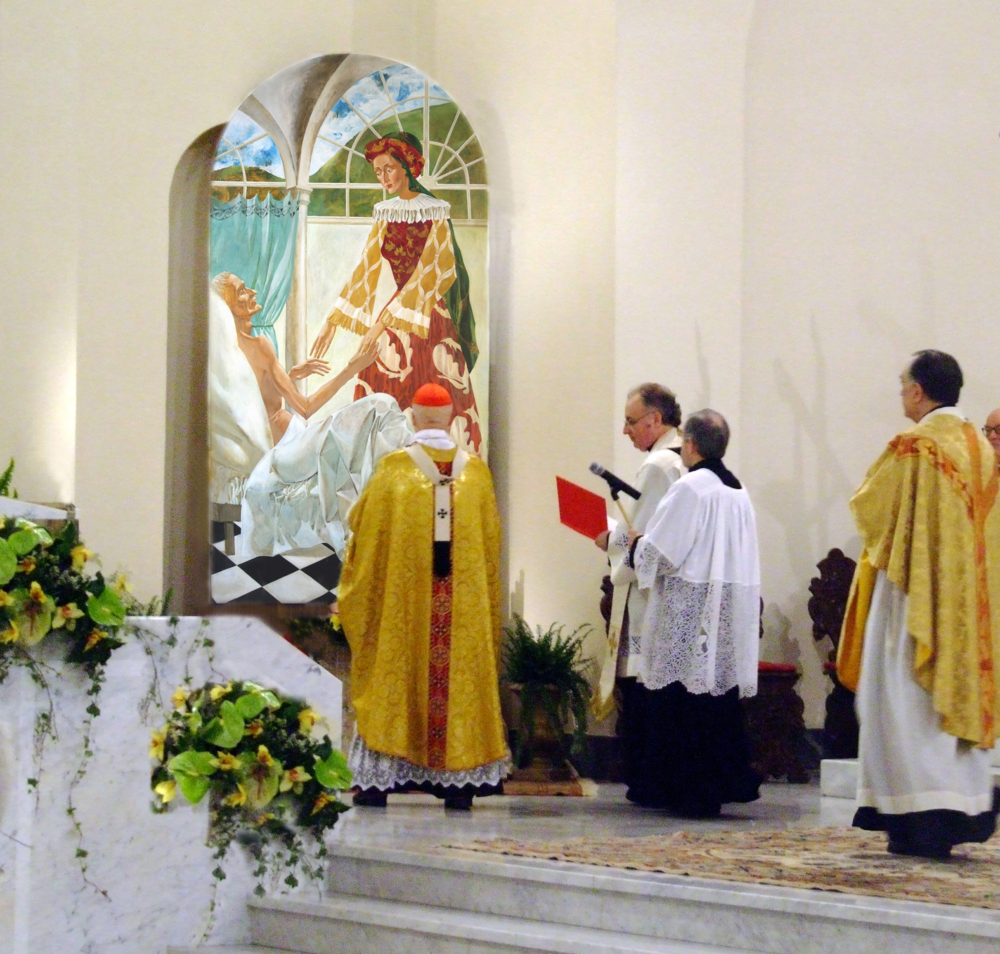 "Denys Savchenko. Inauguration of a painting ""Saint Catherin of Genoa by Cardinal Bagnasco"