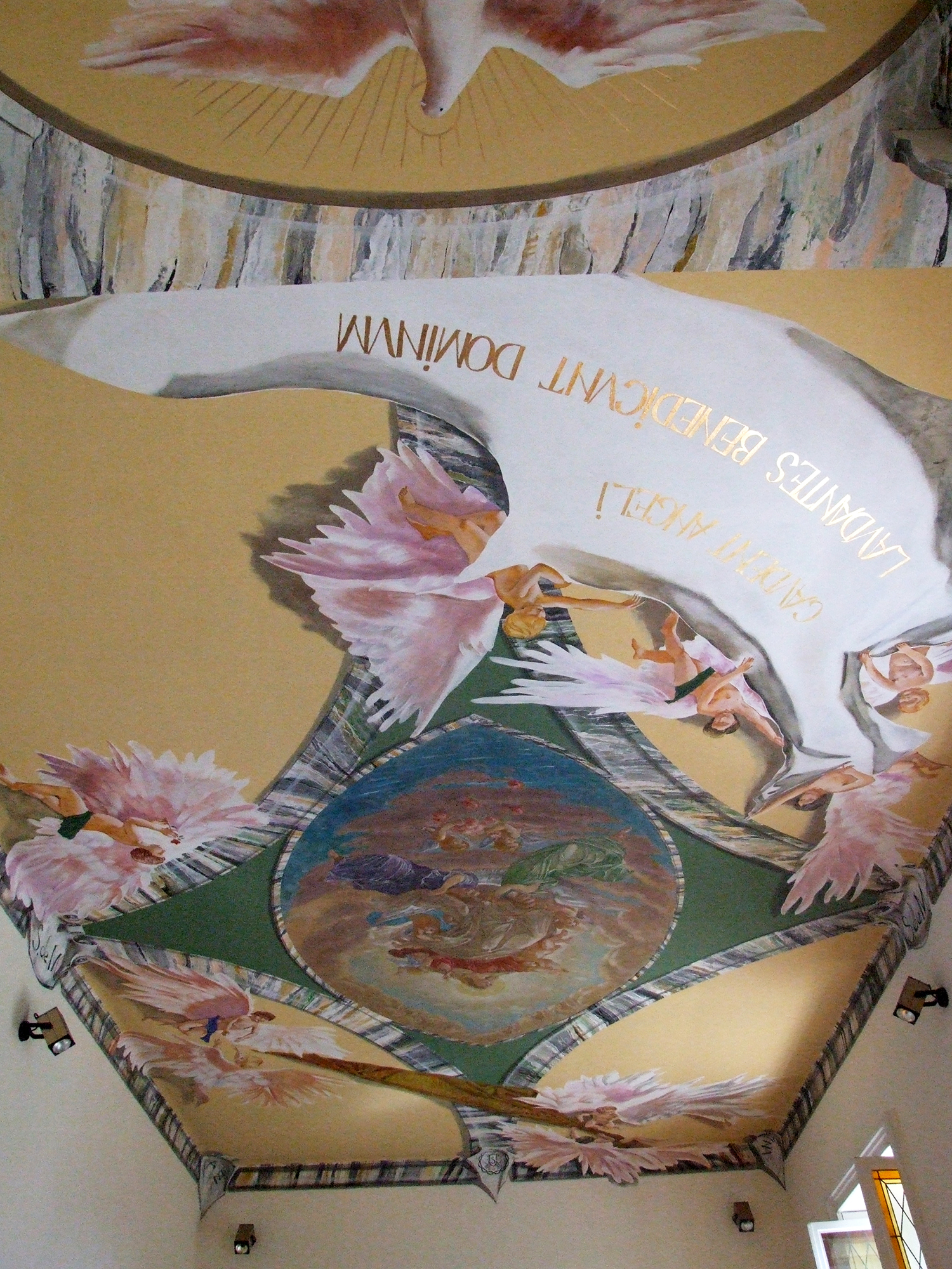 Denys Savchenko. Religious painting. Monumental painting. Chapel Suore Serve di Maria