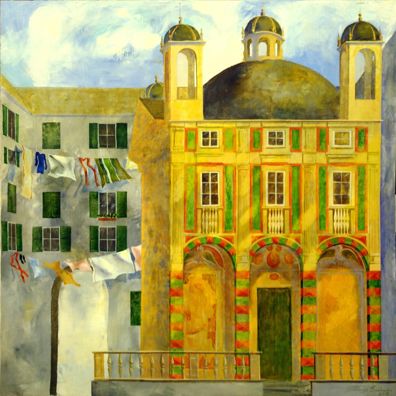 Denys Savchenko. Religious painting. Oil painting. Church Saint Pietro Banchi