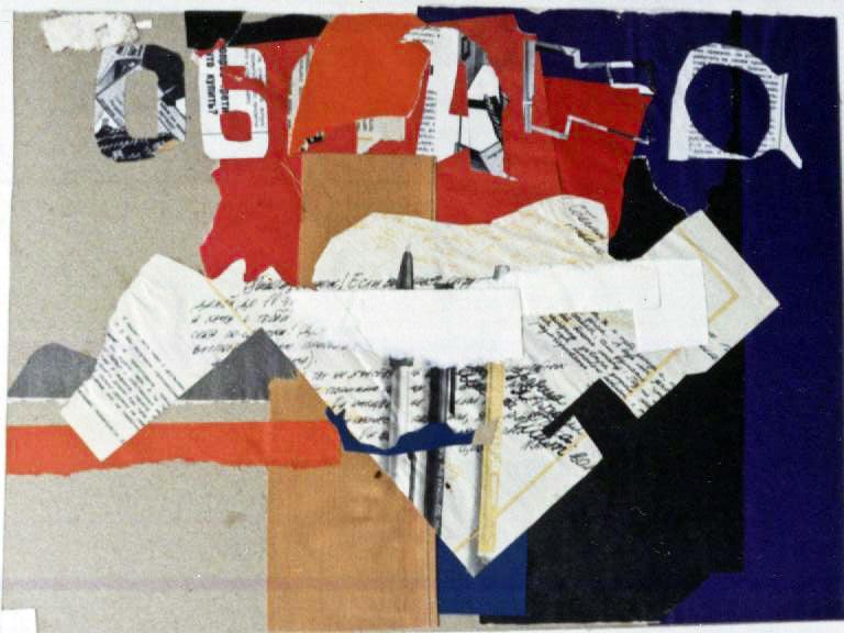 Denys Savchenko. Collage. Abstract works