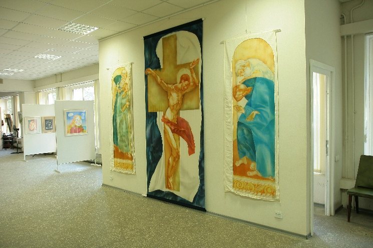 Artist Denys Savchenko.Exhibition Hall of the NUAU. Odesa, Ukraine