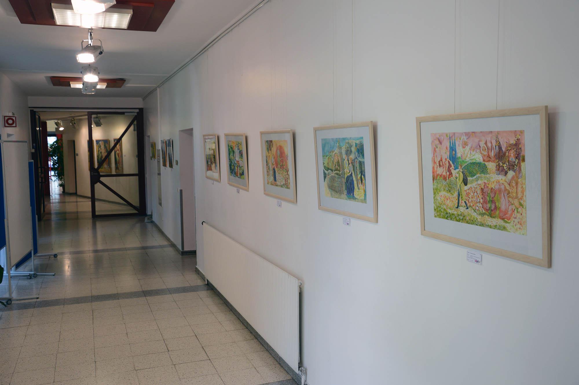 Artist Denys Savchenko. Exhibition. Culture center Dornach. Linz, Austria
