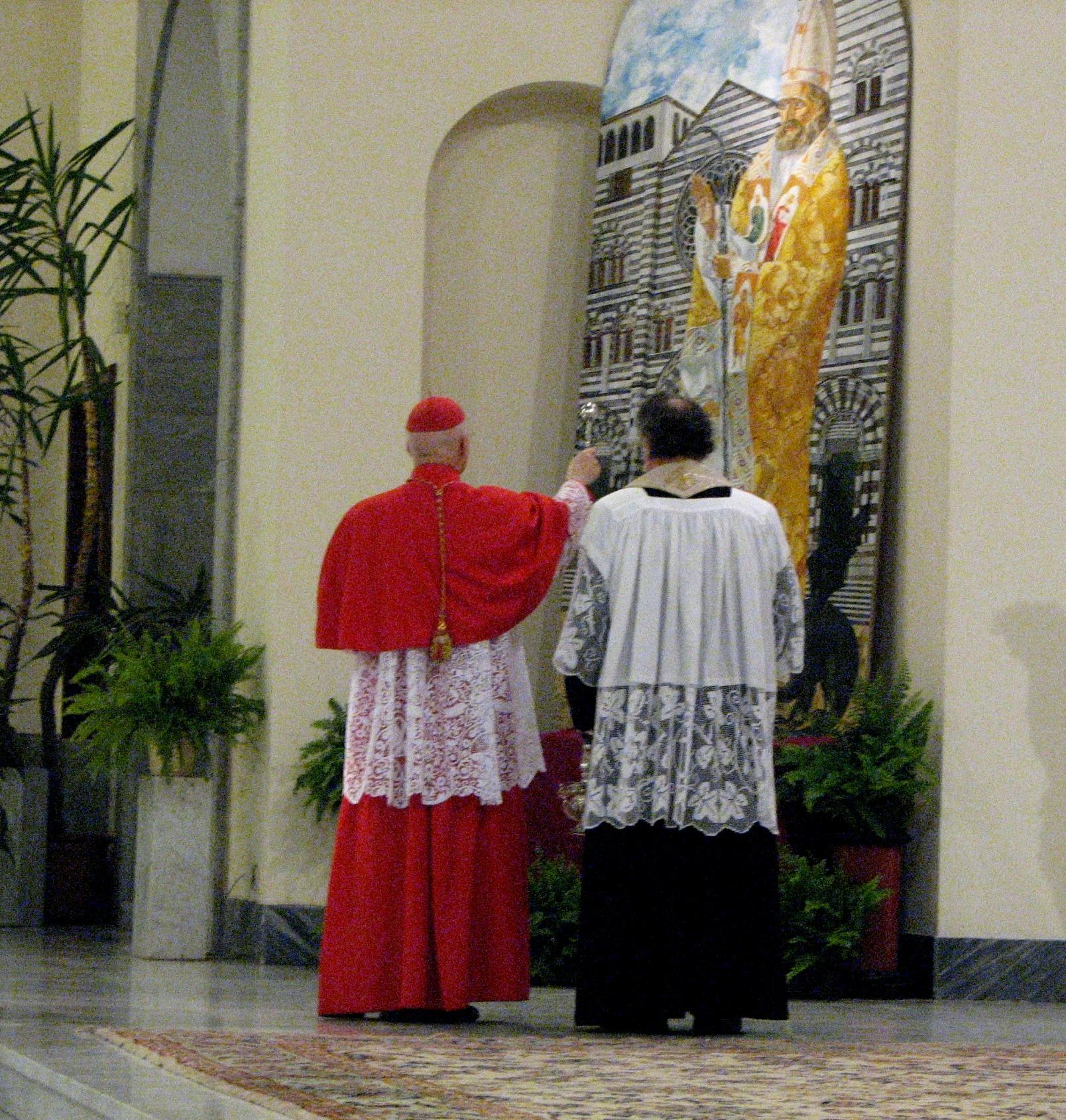 "Denys Savchenko. Inauguration of a painting ""Saint Siro"" by Cardinal Bagnasco"