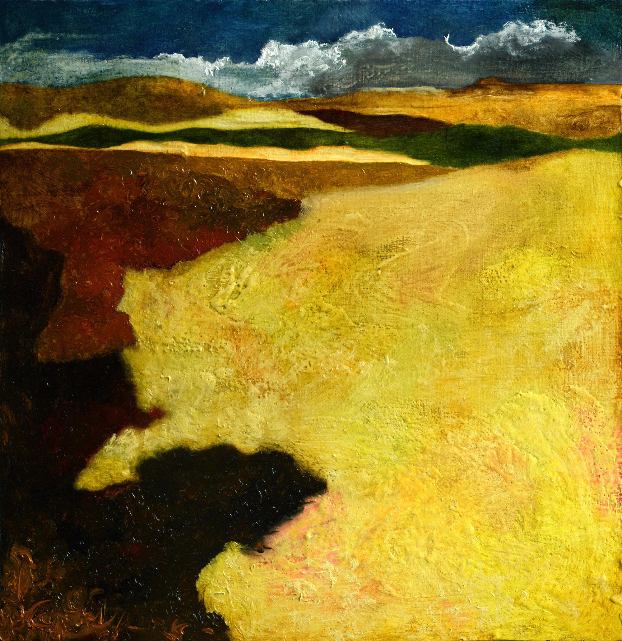 Denys Savchenko. Oil painting. Landscape. Cornfield