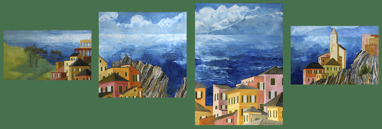 Denys Savchenko. Oil Painting.. Liguria