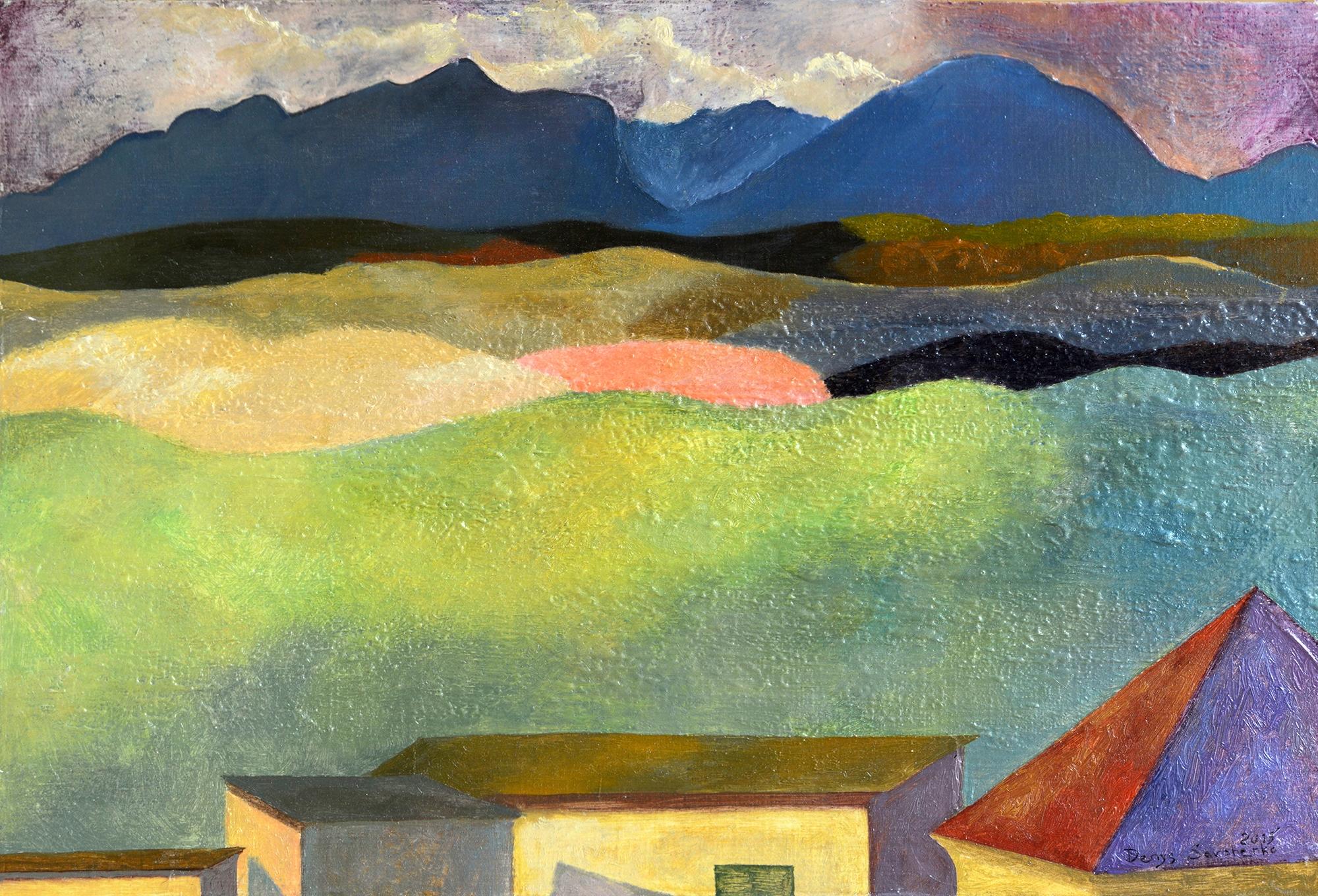 Denys Savchenko. Oil painting. Landscape. Sunlight