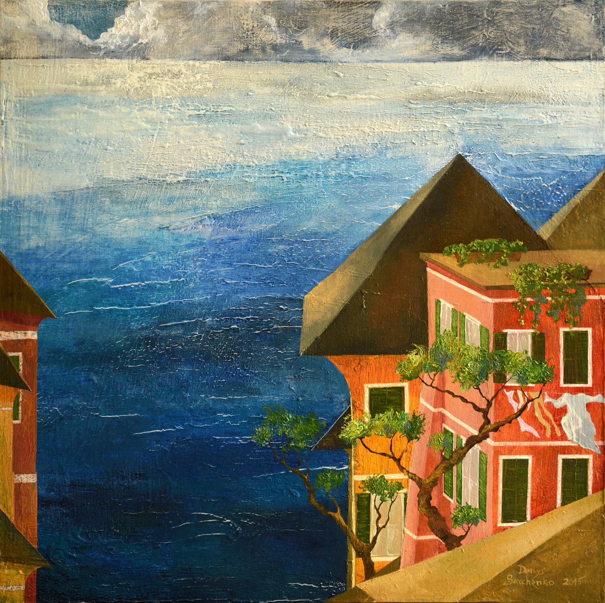 Denys Savchenko. Oil painting. Landscape. Liguria
