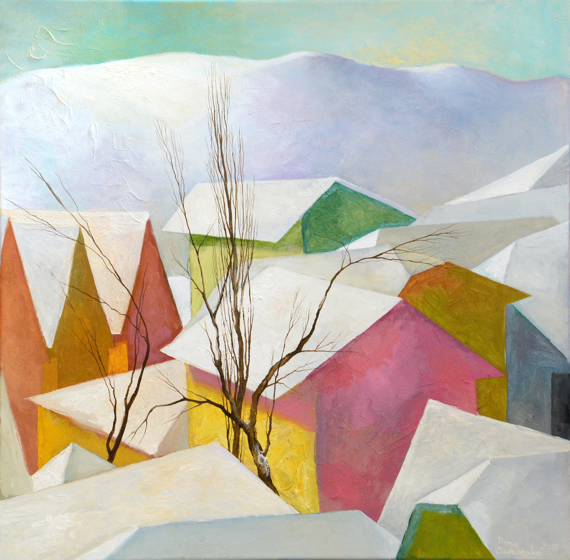 Denys Savchenko. Oil painting. Landscape. Last snow