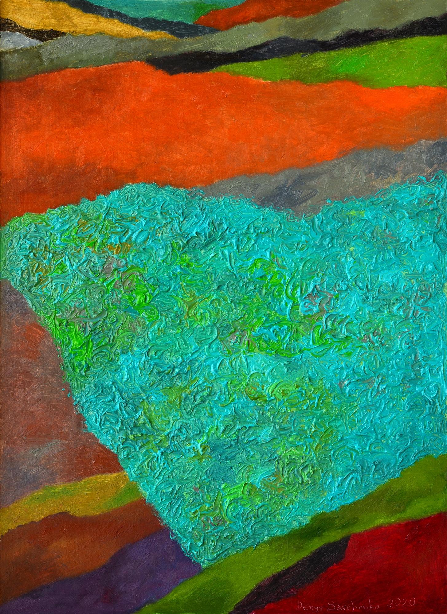 Denys Savchenko. Oil painting. Landscape geometry