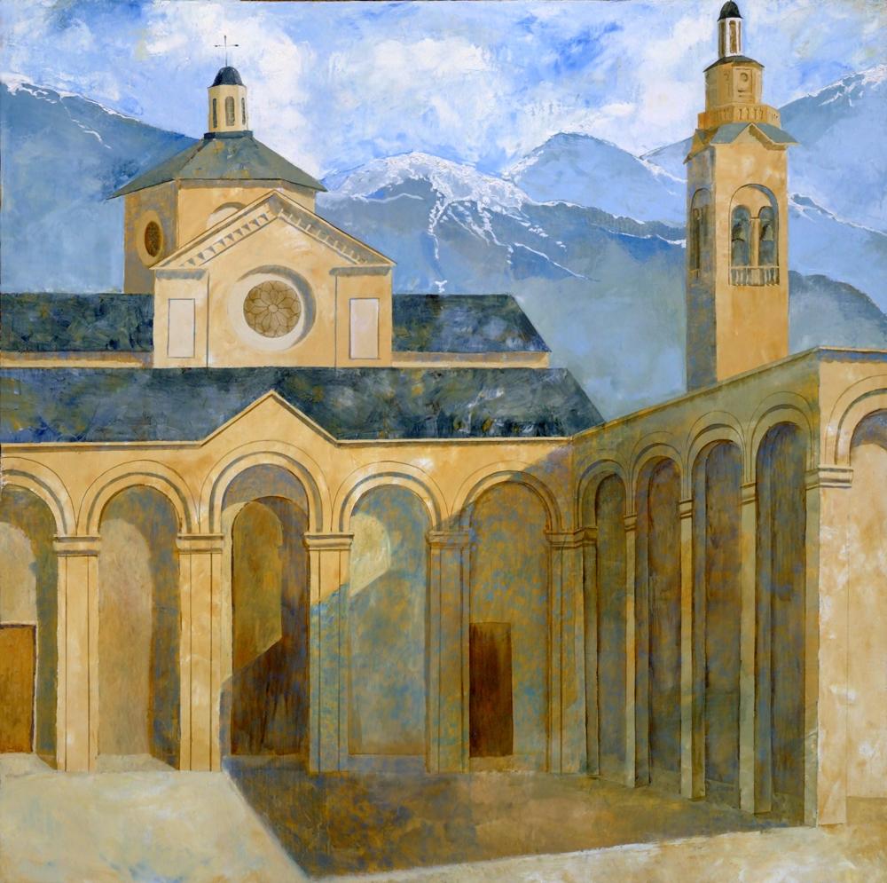 Denys Savchenko. Religious painting. Oil painting. Madonna Della Guardia