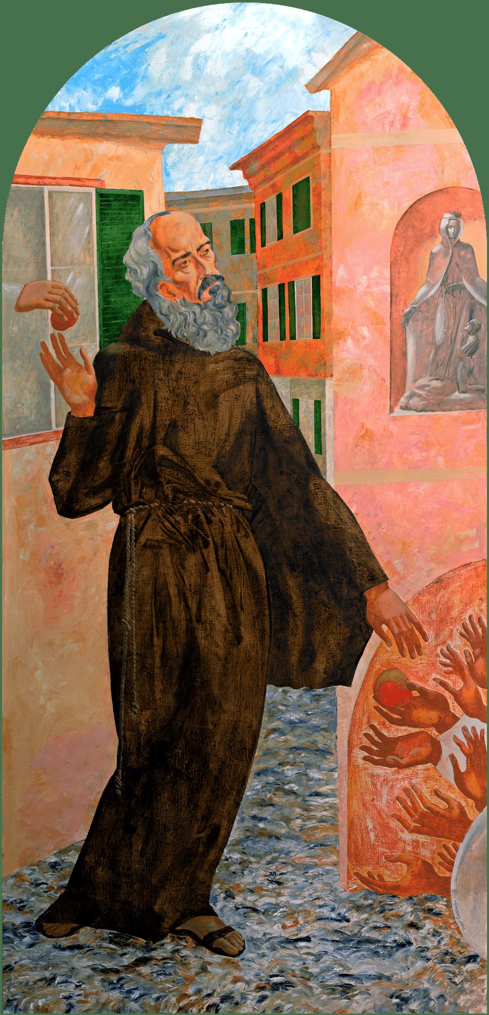 Denys Savchenko. Religious painting. Saint Francesco Maria da Camporosso (Padre Santo)