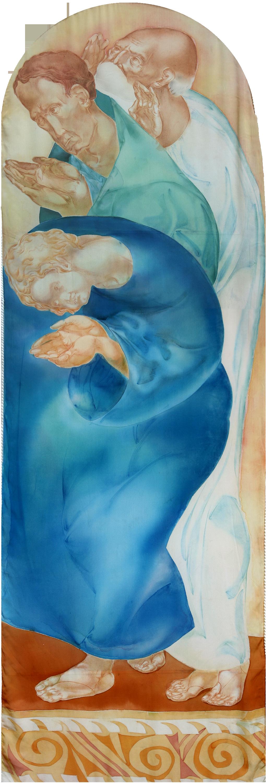 Denys Savchenko. 2001. Eucharist. Painting on silk. Chapel