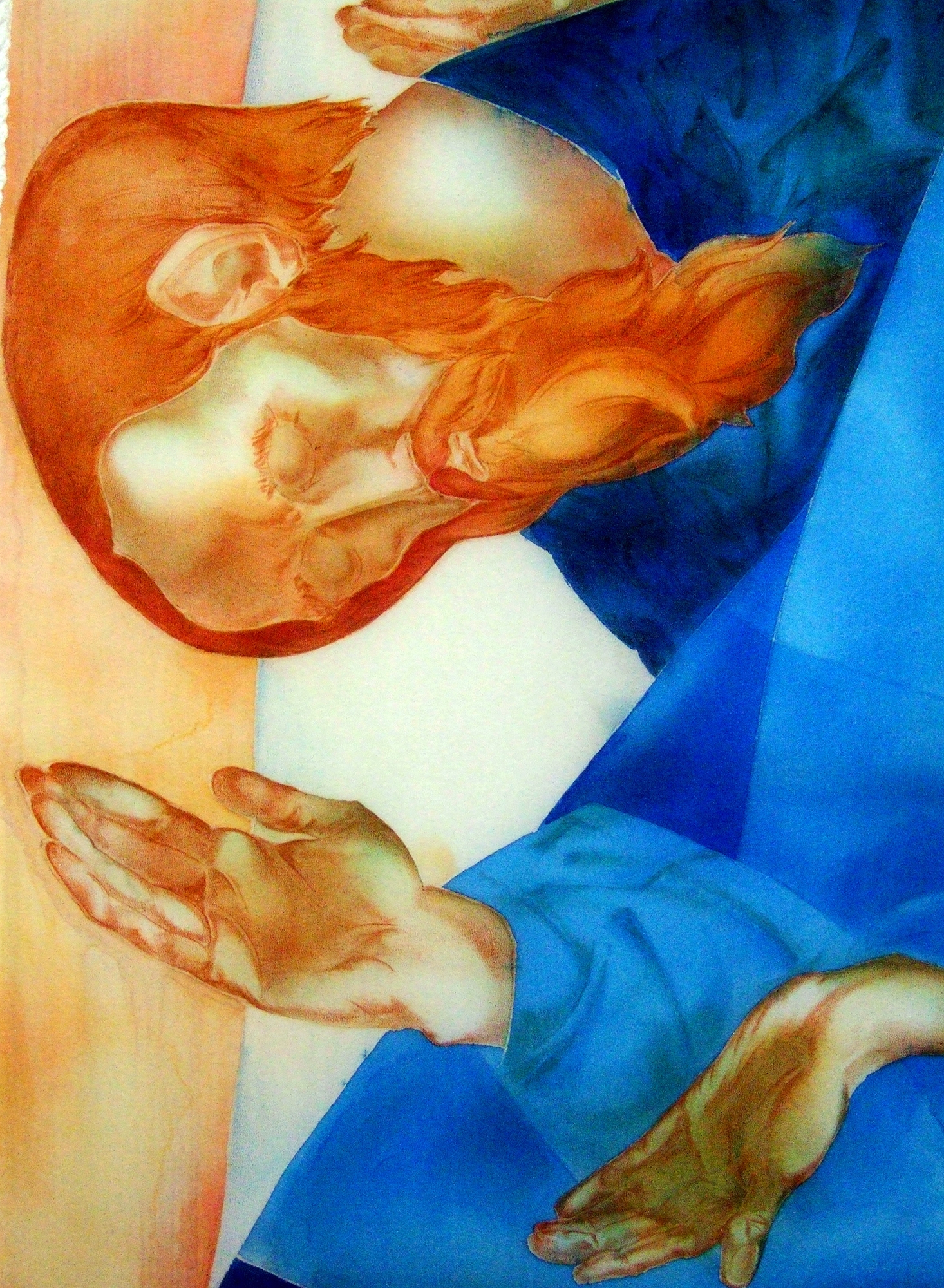 Denys Savchenko. 2001. Eucharist. Painting on silk. Chapel