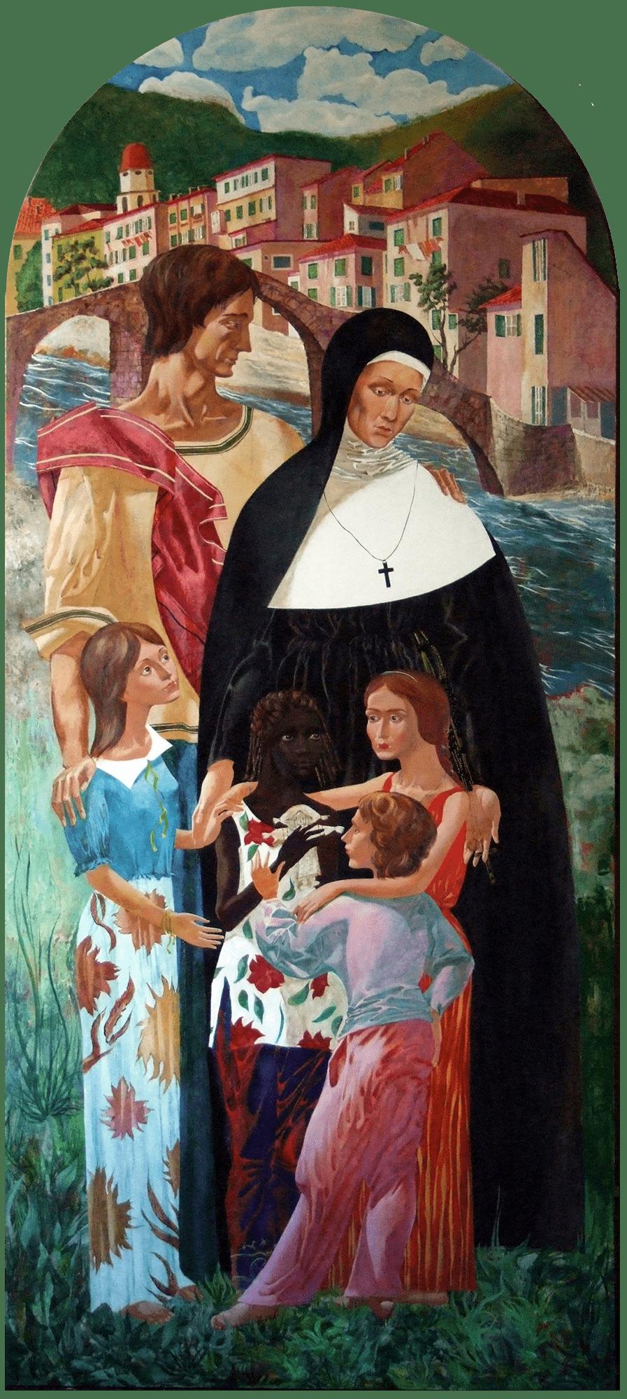 Denys Savchenko. Religious painting. Oil painting. Saint Benedetta Cambiagio Frassinello