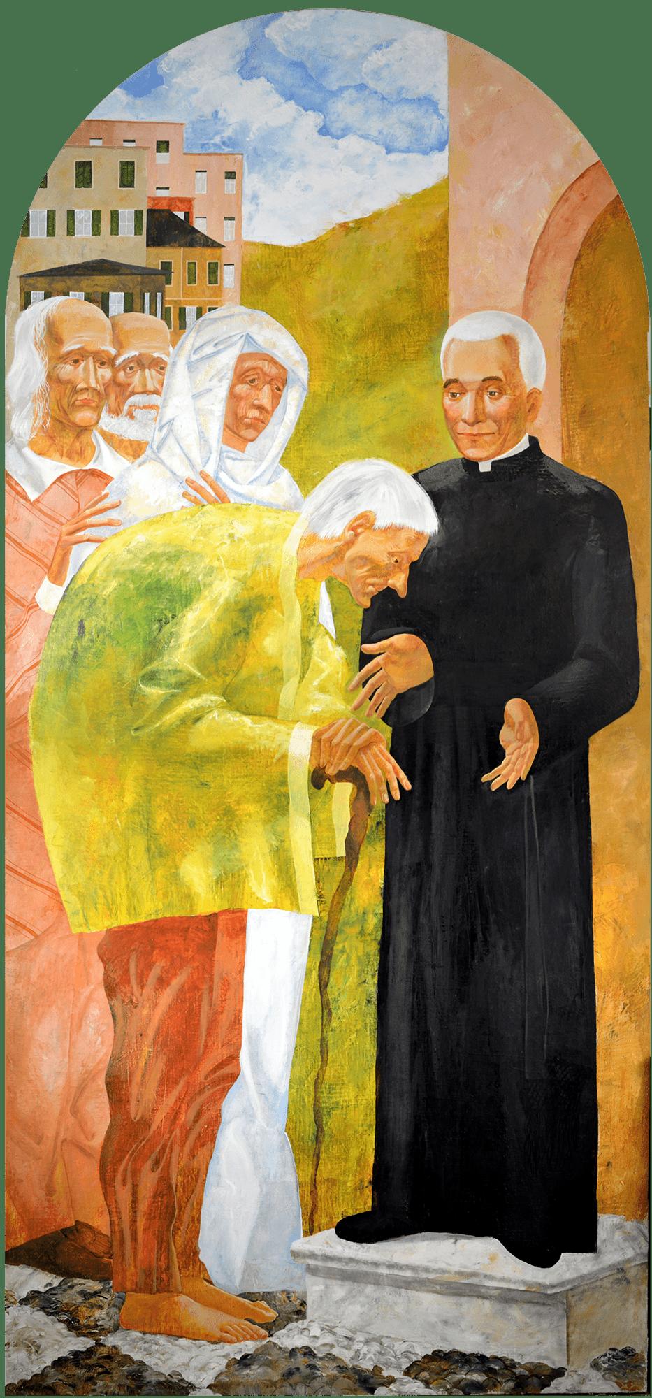 Denys Savchenko. Religious painting. Oil painting. Don Orione