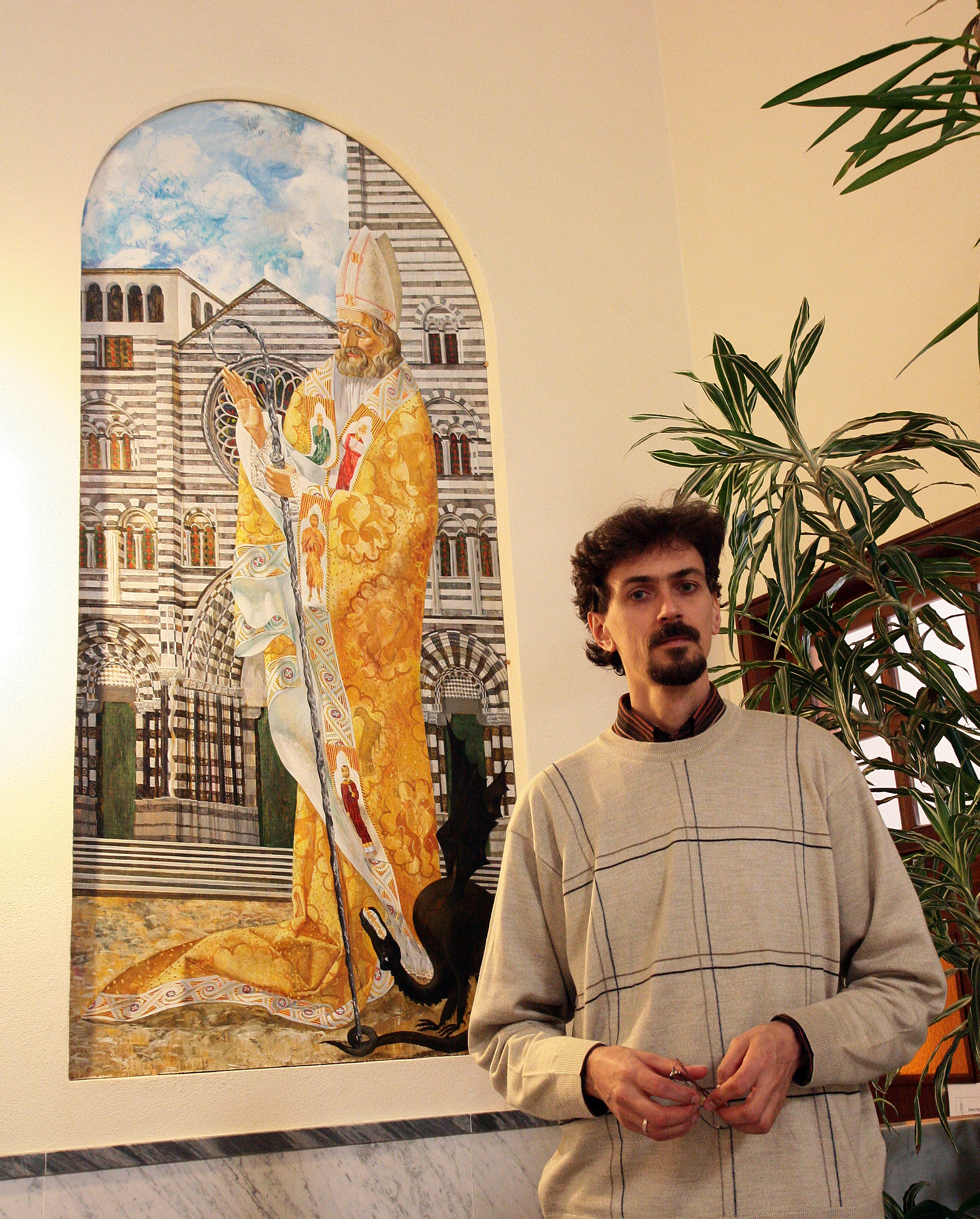 """Denys Savchenko. painting """"Saint Siro"""""""