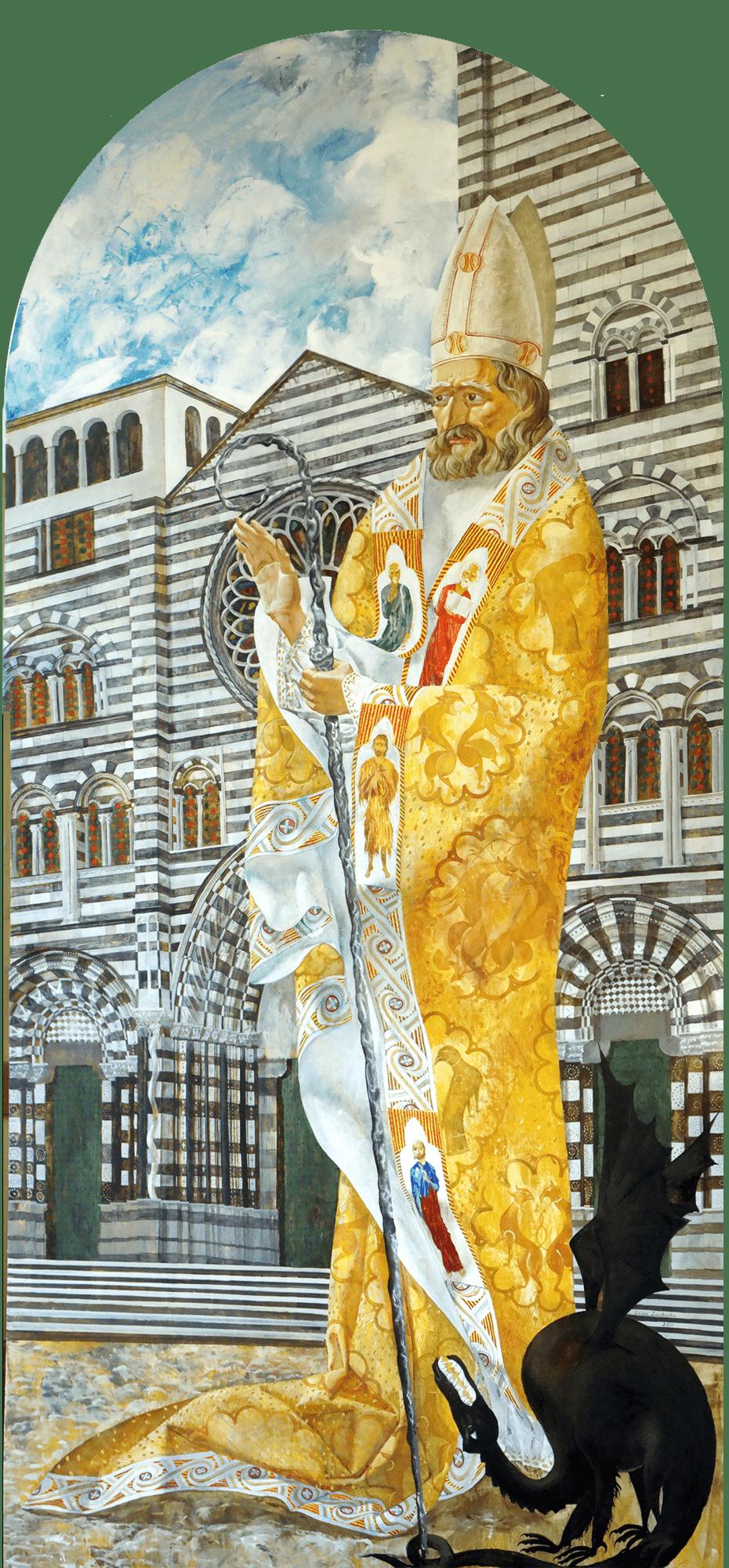 Denys Savchenko. Religious painting. Oil painting. San Siro
