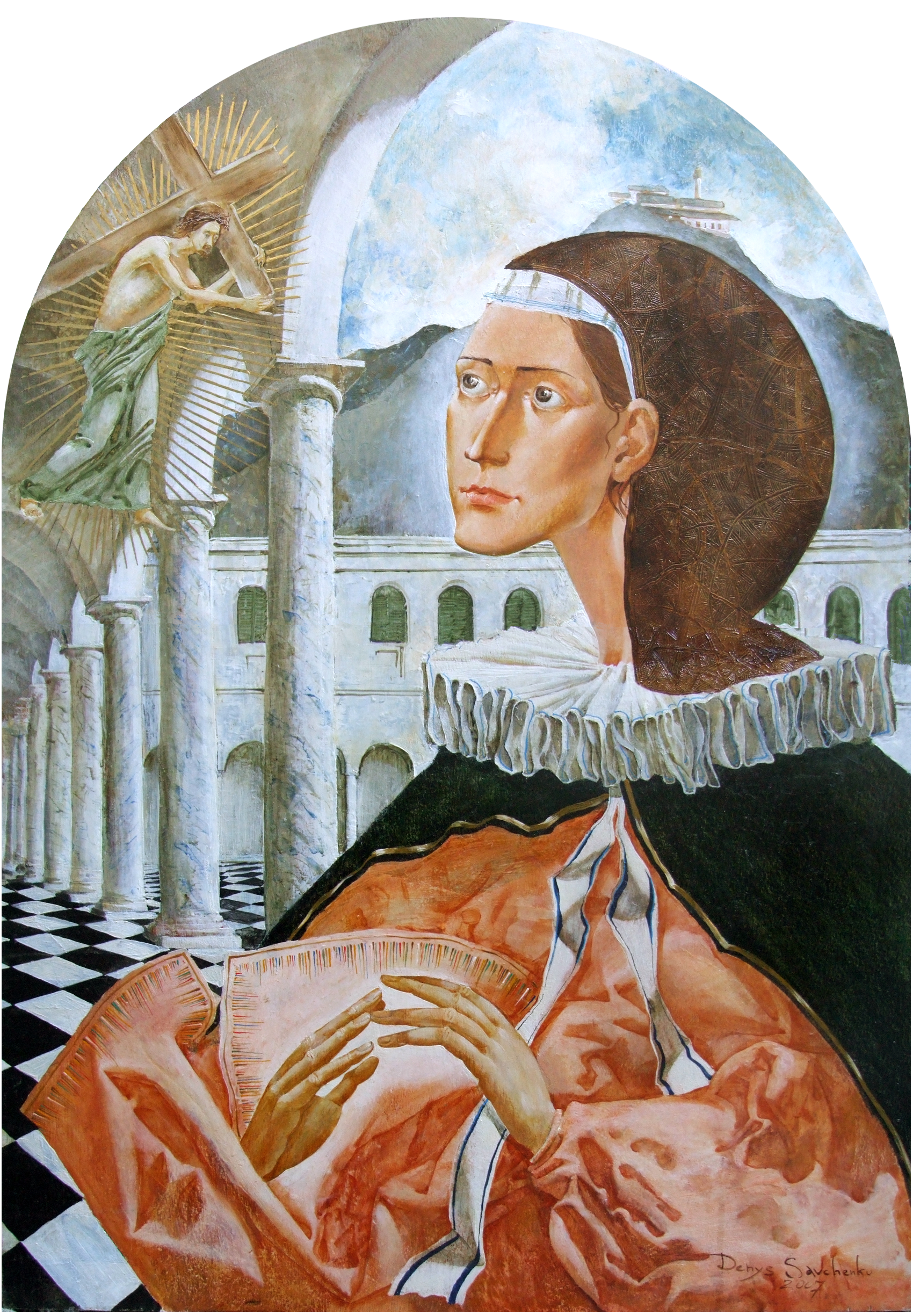 Denys Savchenko. Oil painting. Religious painting. Saint Catherine of Genoa