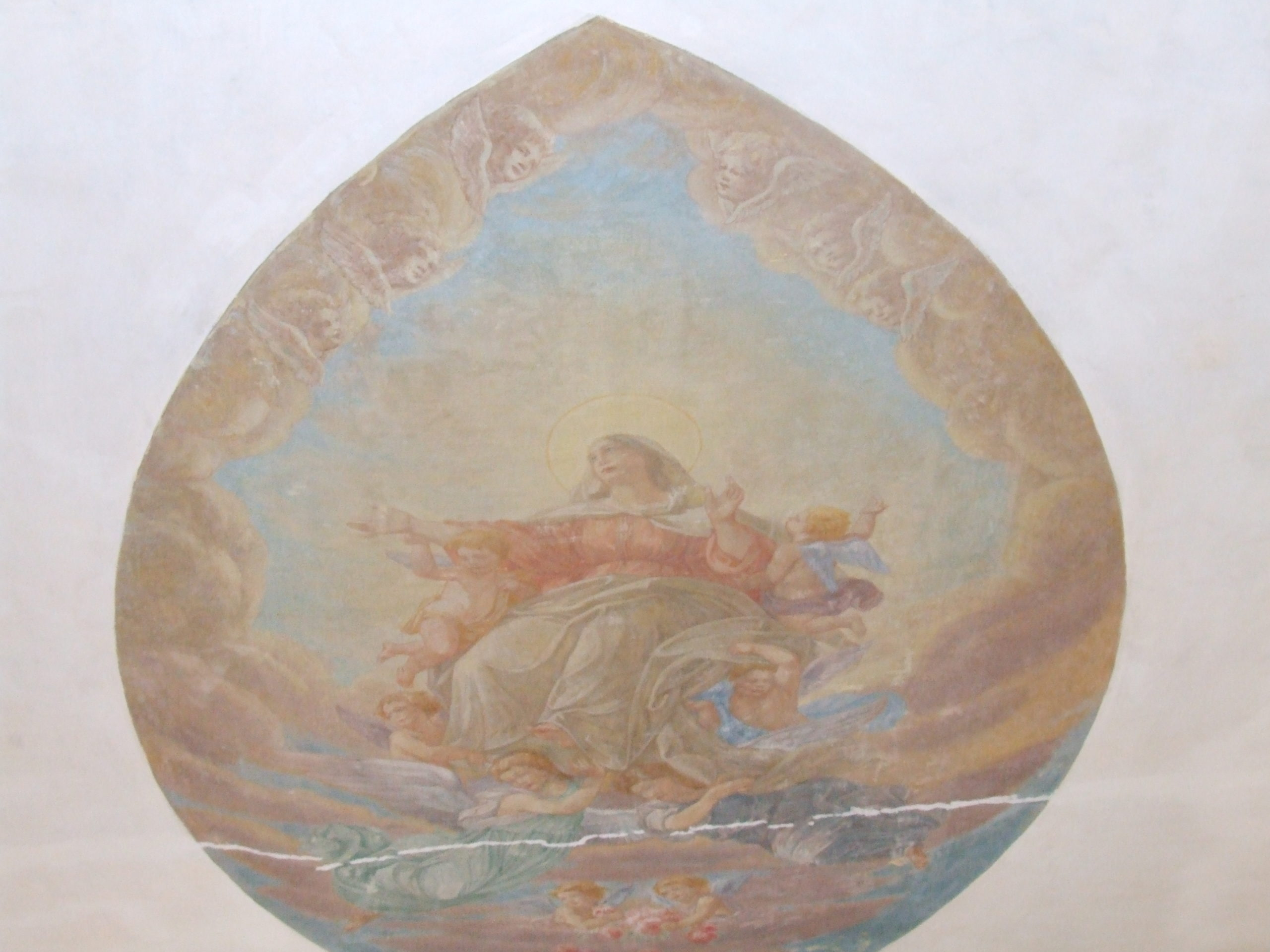 Denys Savchenko. Religious painting. Monumental painting. Ceiling painting. Suore Serve di Maria Chapel
