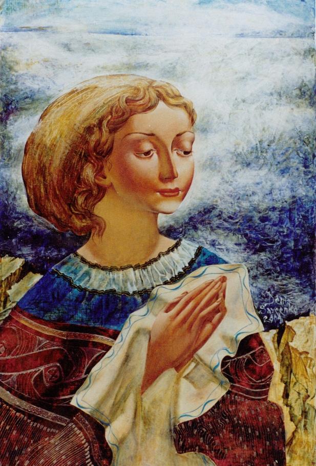 Denys Savchenko. Religious painting. Acrylic painting. Maria